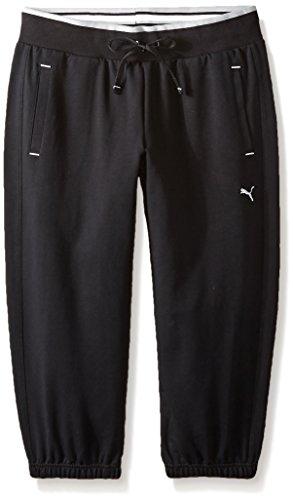 (PUMA Women's Sweat Capri, Black, X-Large)