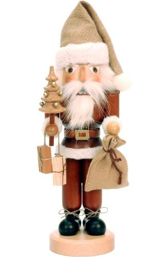 Alexander Taron Santa (Alexander Taron Importer 32-333 This Ulbricht/Seiffener Santa Nutcracker Is Holding a Christmas Tree an d a Sack Of Presents an d Is in  Natural Wood Finish.)