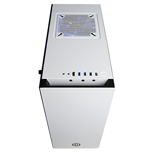 CYBERPOWERPC Liquid Cool SLC8460A Desktop Gaming PC (Intel i7-7700K 3 2GHz,  AMD RX 480 8GB, 32GB DDR4 RAM, 3TB HDD, 512GB SSD, WiFi 802 11AC, Win 10