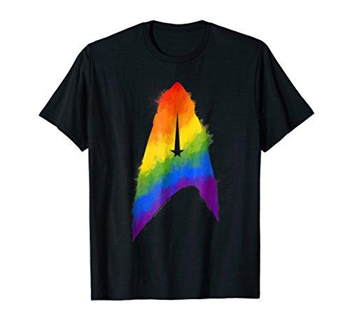 (Star Trek Discovery Rainbow Paint Insignia Graphic T-Shirt)
