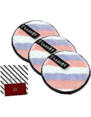 TISSOFT Magic Lazy Makeup Remover Reusable Microfibre Wipes Cloth Pads - 3x Double-Sided Superfine Microfiber Face Wipes for Easy Chemical Free Water Based Removal | 3 Pack