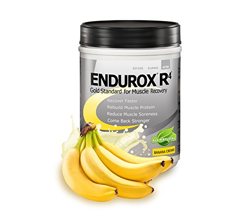 Endurox PacificHealth R4, All Natural Post Workout Recovery Drink Mix with Protein, Carbs, Electrolytes and Antioxidants for Superior Muscle Recovery, Net Wt. 2.29 lb, 14 Serving (Banana Creme)