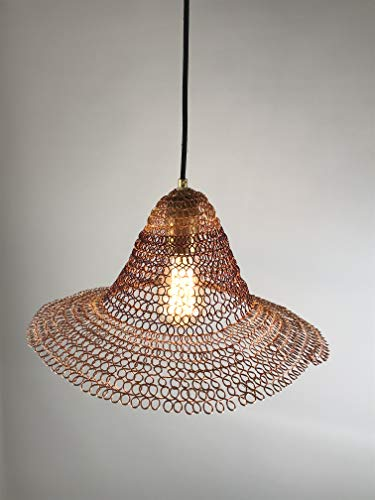 Contemporary Lighting - Crafted Lamp - Hanging Light Fixture - Sombrero Shaped Hand Woven Lamp