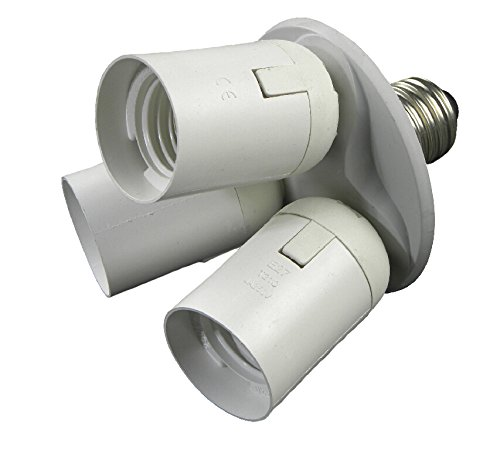 Toplimit 3 in 1 Standard Light Bulb Lamp Socket Adapter Splitter (3 in 1 white)