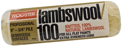 wooster-brush-r292-9-lambswool-100-roller-cover-3-4-inch-nap-9-inch