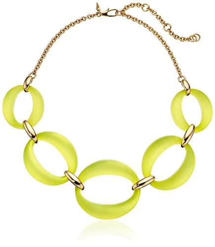 Alexis Bittar Large Lucite Link Titanium Yellow Chain (Lucite Link)