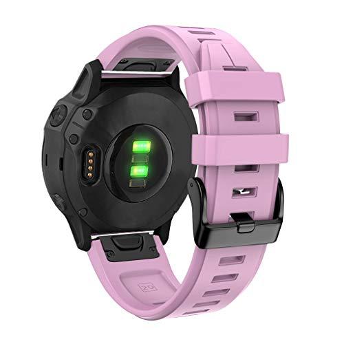 Armband für Garmin Fenix 6S/Fenix 6S Pro, BJJH Klassische Silikon Sports Ersatzband Quick Release Uhrenarmband für…