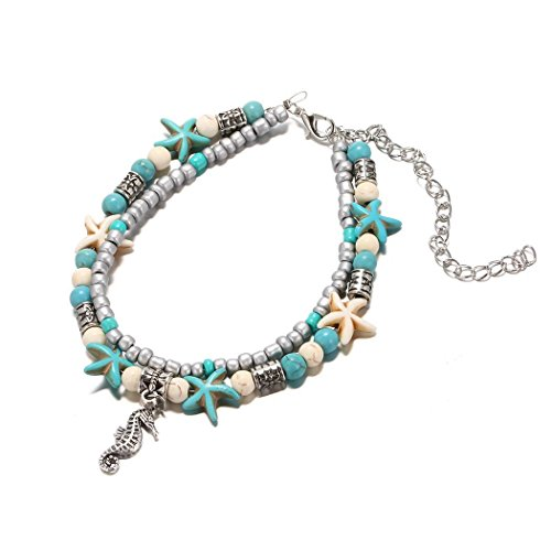 ICCUN Women Multi-layer Beach Barefoot Ankle Jewelry Anklets from ICCUN