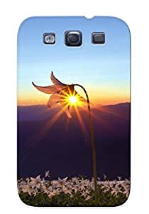Christmas Day's Gift- New Arrival Cover Case With Nice Design For Galaxy S3- Nature Landscapes Fields Flowers Plants Mountains Sky Sunrise Sunset Sunlight Sunbeam