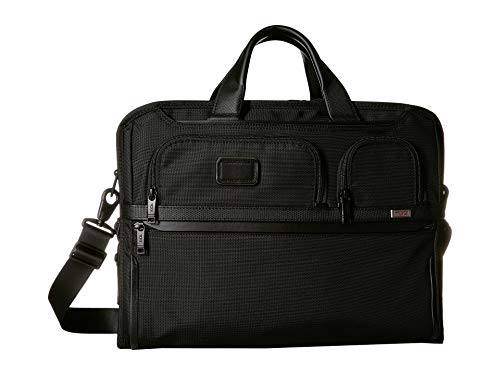 - TUMI - Alpha 3 Compact Large Screen Laptop Brief Briefcase - 17 Inch Computer Bag for Men and Women - Black