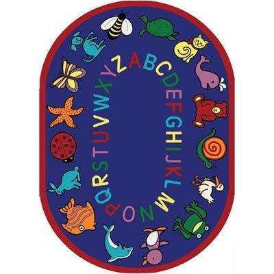 Joycarpets Educational ABC Animals Bold Design Area Rug, Ova