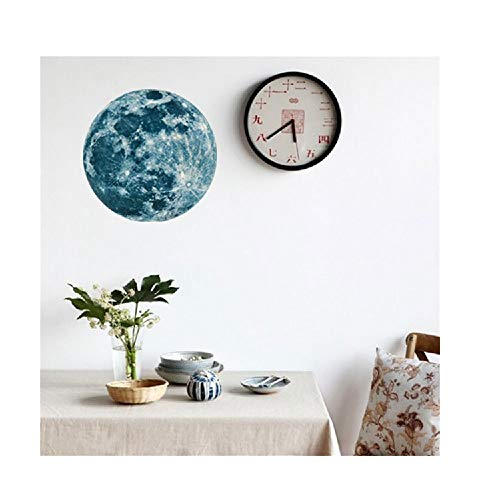 YESOT 20cm 3D Large Moon Pattern Fluorescent Wall Sticker Removable Glow in Sticker Living Room Bedroom Children's Room Wall Stickers Office Wall Stickers (C, Green) -