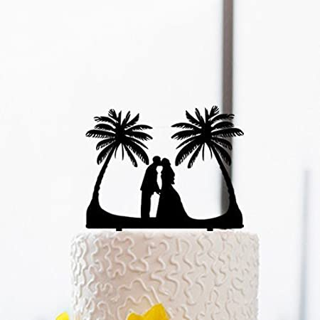 41HcQuJj8SL._SS450_ The Best Palm Tree Wedding Cake Toppers