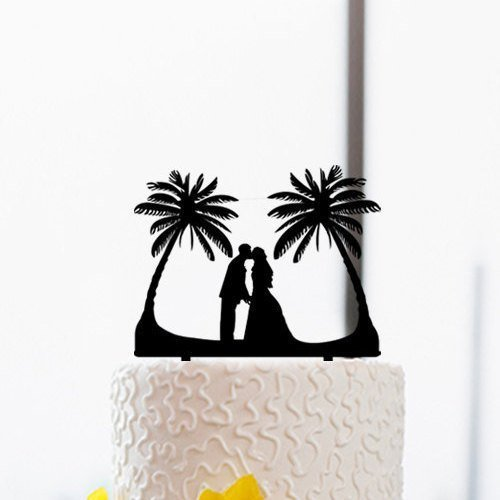 41HcQuJj8SL The Best Palm Tree Wedding Cake Toppers