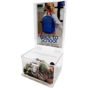 My Charity Boxes - Clear Acrylic Display Donation Box - Ballot Box - Ticket Box -  sc 1 st  Amazon.com & Amazon.com : SourceOne Donation Box with Lock - 5-Inch Wide ... Aboutintivar.Com
