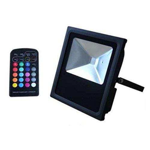 Agfri Foco Proyector Plano LED 50 W, Negro: Amazon.es: Iluminación