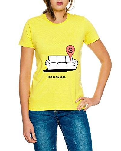 Spot Bang my shirt Giallo Big donne Theory Sheldon T Nerd ABnx5Zxa