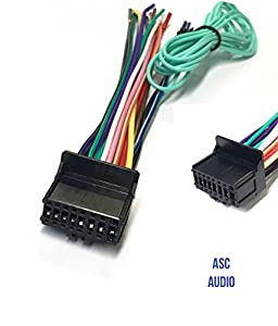 41HcRRP0DHL._SY300_ amazon com asc car stereo power speaker wire harness plug for pioneer avic z140bh wiring diagram at bayanpartner.co