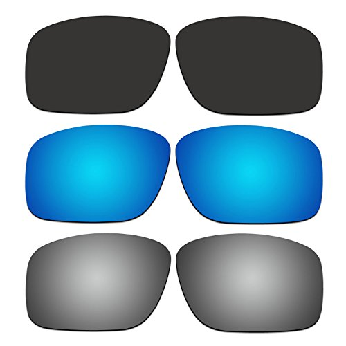 ACOMPATIBLE 3 Pair Replacement Polarized Lenses for Oakley Mainlink Sunglasses OO9264 Pack P4
