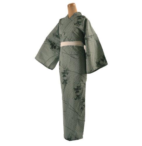 7132d4d408 Yukata Kimono Robe Cotton Women size L Green Japan Japanese Mt ...