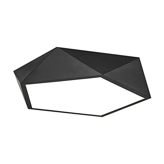 Amazon.com: Lámpara de techo LED geométrica de metal ...