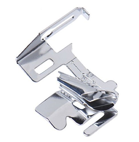 SimSel Low Shank Bias Binder Rolled Hem Hemmer Edge Stitcher plus Bracket Adapter - for low shank sewing machines - Brother, Singer, Elna and More!