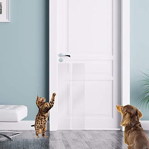 Door Scratch Protector, Protect Your Door, Furniture and Wall with Clear Premium Heavy Duty Door Cover Scratch Shield, Large Vinyl Door Guard for Dog Scratching
