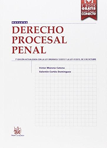 Descargar Libro Derecho Procesal Penal 7ª Edición 2015 Victor Moreno Catena