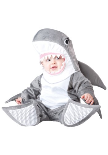 (InCharacter Costumes Baby's Silly Shark Costume, Grey/White, Medium(12-18)