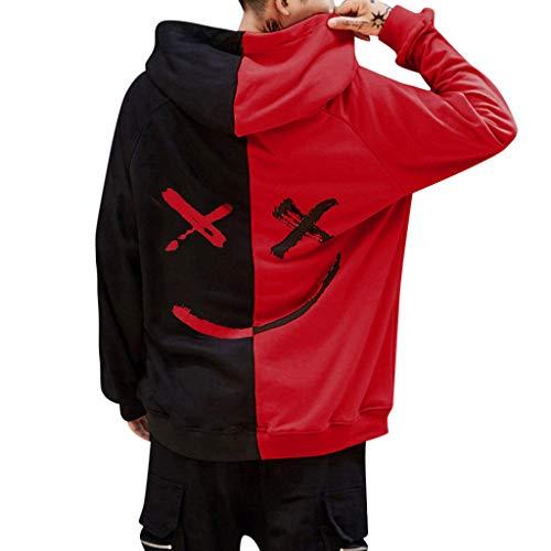 Rouge Pas Imprime Manches Longues À Sweat Col Cher Homme Happiness shirt Gilet Tops Smile Innerternet Sweatshirt Haut Capuche Pull Face Casual Mode UEF1wEaqn