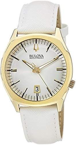 Bulova Accutron II - 97B131 White Strap Watch (Accutron Mens Watch)
