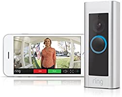 Ring Video Doorbell Pro - Videoportero 1080 HD con timbre Chime incluido, audio bidirecciona, detección de movimiento y wifi, 4 placas colores varios