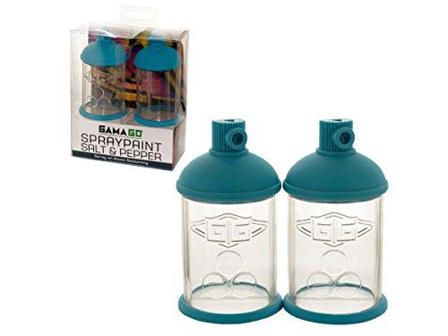 bulk buys Spraypaint Can Salt Pepper Shakers Set - Pack of 16