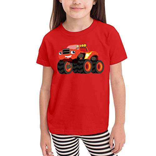 Rusuanjun Blaze and The Monster Machines Children's T-Shirt Red 3T Fun and Cute]()