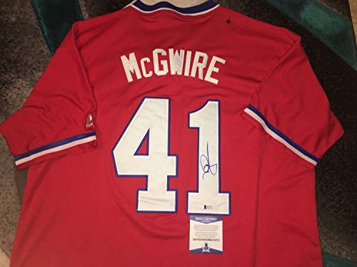 Autographed Team Jersey (Mark Mcgwire Autographed Signed Team Usa Jersey Cardinals Athletics Big Mac Beckett #2)