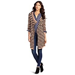 D.E.P.T. Women's Draped Rib Cardigan Sweater