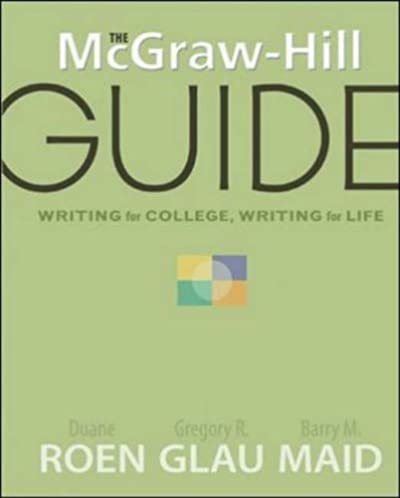 amazon com the mcgraw hill guide writing for college writing for rh amazon com McGraw-Hill Logo McGraw-Hill Textbooks