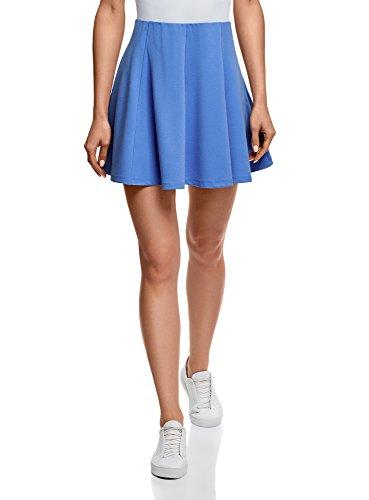 Femme vase Ultra Jupe Maille 7501n en Bleu oodji 8wqaTHnH