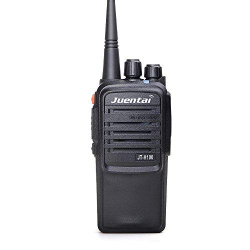 Juentai JT-H100 UHF 10watts Amateur 2-Way Radios with Free Programming Cable 10 miles Long Distance 400-480Mhz Handheld Ham two way radio Radio (Black) (Free Hands Radio Shack Radio)