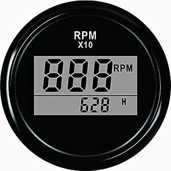 52 mm Tachometer Waterproof for Diesel White LED Back Light Waterproof
