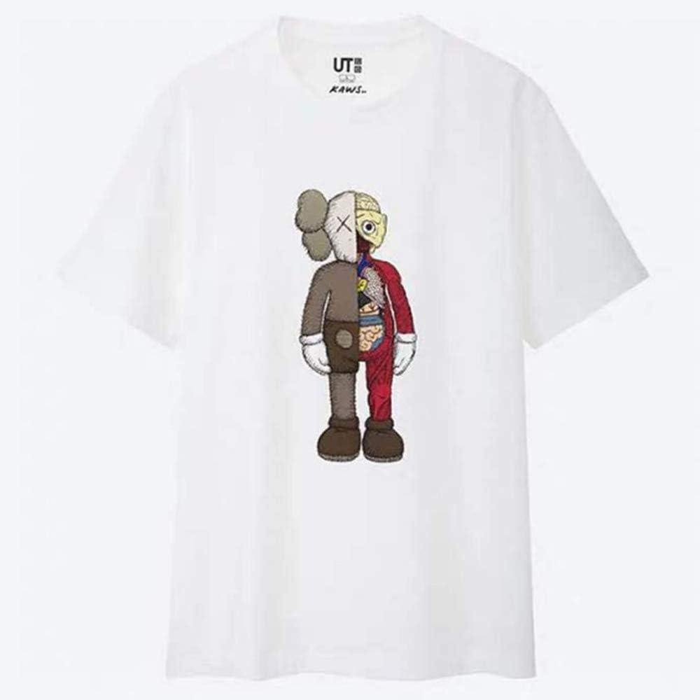 YX T-shirt Maglietta Sesame Street KAWS Joint Maniche Corte Amanti della Terza Bomba 4-XS