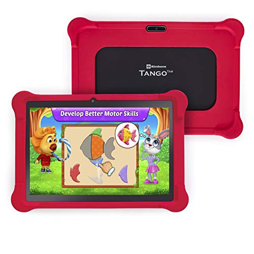 [4 Bonus Item] Simbans TangoTab 10 Inch Kids Tablet with RED Bumper Case | 3GB RAM, 64GB Disk, Android 9 Pie | WiFi, USB, HDMI, Bluetooth | 2+5 MP Camera Computer PC -2020 Model