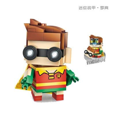 LOZ Batman Robin Diamond Mini Building Micro Block Brick Headz Baseplate DIY Figurine Bobble Head Collectible Developmental Toys Model Comics Collection Chistmas Gifts for Kids