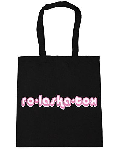 HippoWarehouse ro-laska-tox Tote Compras Bolsa de playa 42cm x38cm, 10litros negro