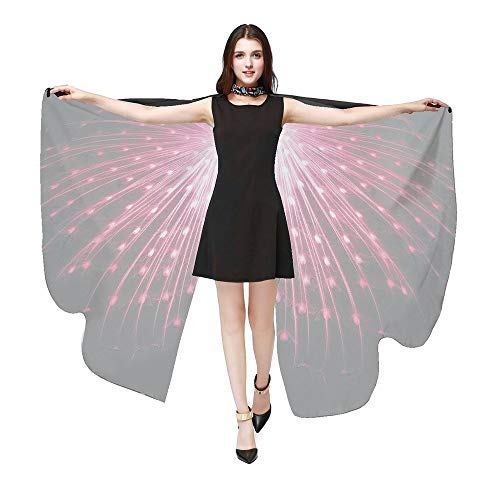 POQOQ Costume Women's Giant Marabou Angel Wings, 32-Inch, White Monarch Butterfly Wings Dress Up Halloween Costume 168135CM Hot Pink]()