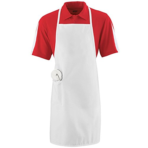 Augusta Sportswear LONG APRON WITH POCKET OS White