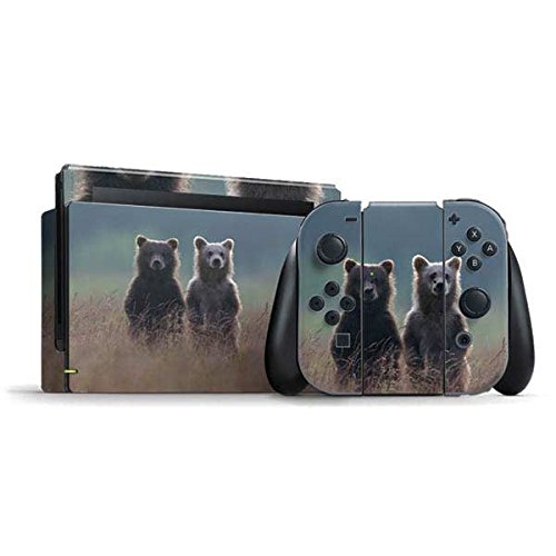 (Animal Photography Nintendo Switch Bundle Skin - Brown Bears Vinyl Decal Skin For Your Switch Bundle)