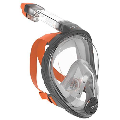 Ocean Reef Aria Full Face Snorkel Mask (Gray, Large / Extra Large)