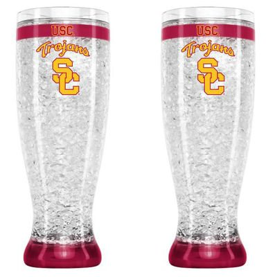 USC Trojans NCAA 16 oz Crystal Flared Pilsner