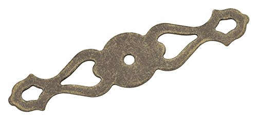 Amerock BP19206R2 Backplates 4-3/8 in (111 mm) Length Weathered Brass Cabinet Backplate